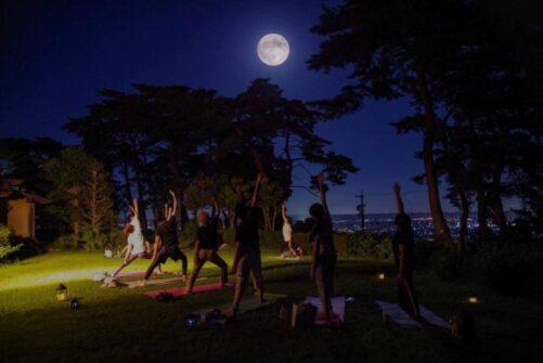 『満月ヨガ』今年は残り3回となりました!外で深呼吸、満月の下、最高のロケーションでヨガ☆ in浜松浜北森林公園森の家